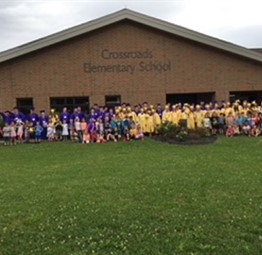 Crossroads K students with CCHS Graduates