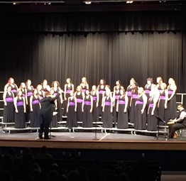 CCHS Choir singing beautifully!