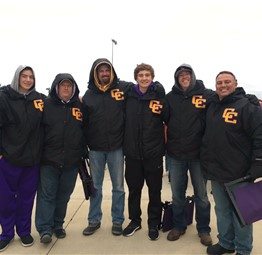 Braving the cold to support the Camels